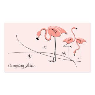Tarjeta de visita rosada del trío 3 del flamenco