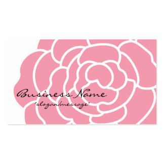 Tarjeta de visita rosada grande de la flor