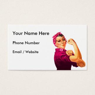 Tarjeta De Visita Rosie el remachador - rosa del cáncer
