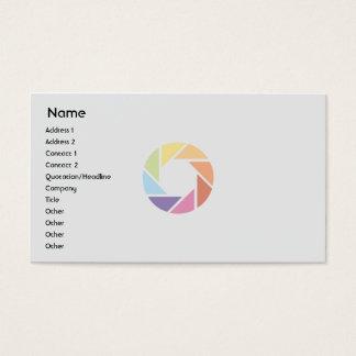 Tarjeta De Visita Rueda de color - negocio