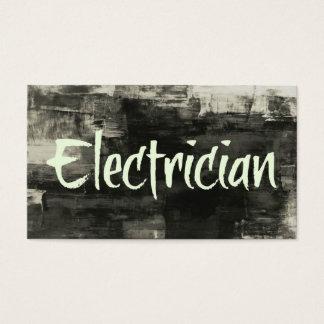 Tarjeta de visita rústica del electricista