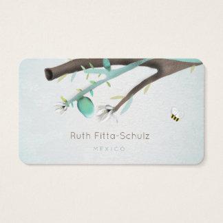 Tarjeta De Visita Ruth Fitta-Schulz - árbol de limón y pequeña abeja