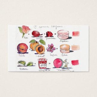 Tarjeta De Visita Sabores de Macaron por el villancico Gillott