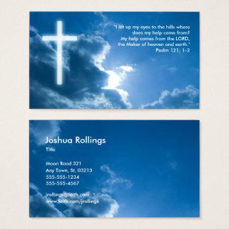 Tarjeta De Visita Salmo 121; 1 cristianos el pipe% azules del 2%