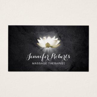 Tarjeta De Visita Salón curativo elegante de Lotus de la terapia del