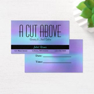 Tarjeta De Visita Salón de belleza abstracto púrpura de la