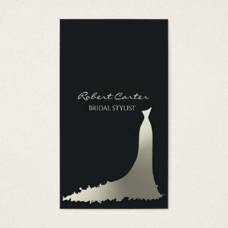 Tarjeta De Visita Salón nupcial del vestido de la casa de moda del