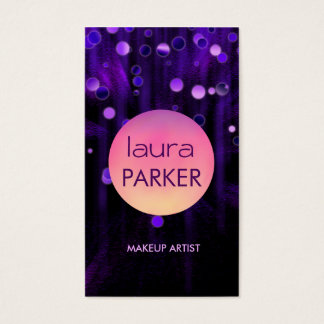 Tarjeta De Visita Salón púrpura del purpurina de la belleza del