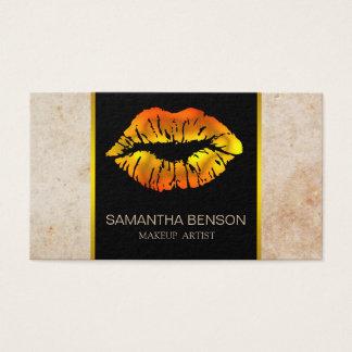 Tarjeta De Visita Salón subió moderno de los labios del brillo del