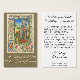Tarjeta De Visita San Antonio el patrón de Abbott de la epilepsia