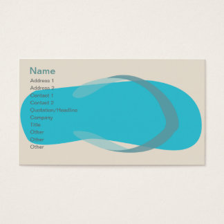 Tarjeta De Visita Sandalia azul - obra clásica