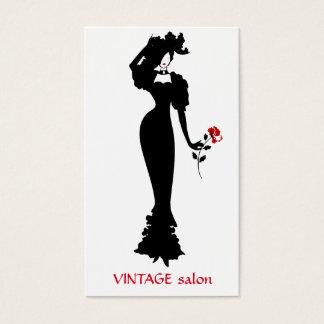 Tarjeta De Visita Sastre de la moda, estilo del vintage de la