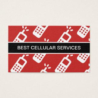 Tarjeta De Visita Servicio celular del teléfono móvil