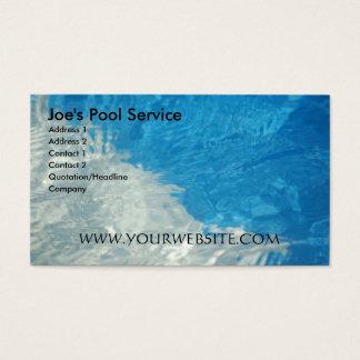 Tarjeta De Visita Servicio de la piscina
