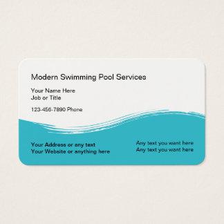 Tarjeta De Visita Servicio moderno de la piscina