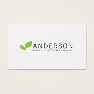 Tarjeta De Visita Servicio que ajardina del jardín minimalista