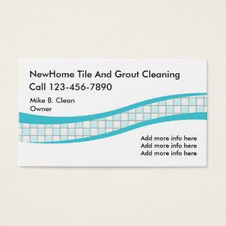 Tarjeta De Visita Servicios de la limpieza de la teja y de la