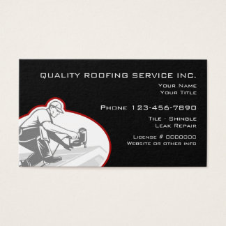 Tarjeta De Visita Servicios de la techumbre y de la construcción