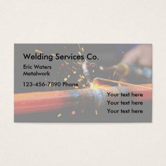 Tarjeta De Visita Servicios de la trabajo de metalistería de la