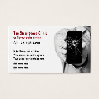 Tarjeta De Visita Servicios de reparación del teléfono móvil