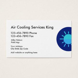 Tarjeta De Visita Servicios del aire acondicionado