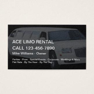 Tarjeta De Visita Servicios del alquiler del Limo