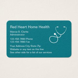 Tarjeta De Visita Servicios del oficio de enfermera de las