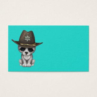 Tarjeta De Visita Sheriff lindo del lobo del bebé