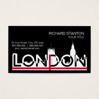 Tarjeta De Visita Silueta de Londres y bandera inglesa