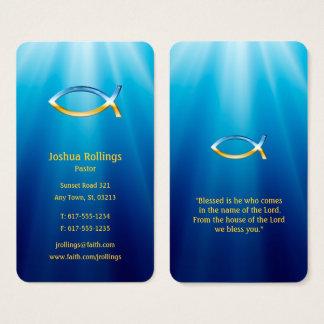 Tarjeta De Visita Símbolo cristiano el | de los pescados inspirado