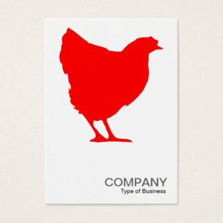 Tarjeta De Visita Símbolo rojo 02 de la gallina - blanco