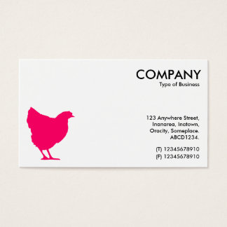 Tarjeta De Visita Símbolo rojo de neón de la gallina - blanco