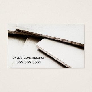 Tarjeta de visita simple de construcción de la