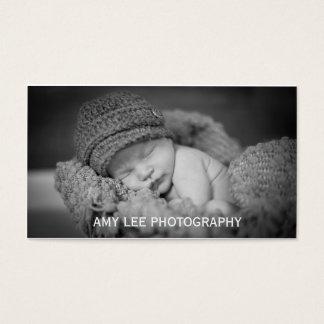 Tarjeta de visita simple de la fotografía