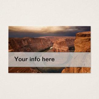 Tarjeta De Visita Tarjeta de visita simple del barranco dramático en