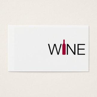 Tarjeta de visita simple del vino