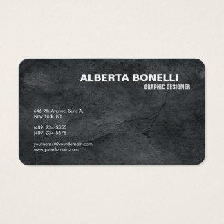 Tarjeta De Visita Simple gris minimalista elegante llano moderno