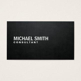 Tarjeta De Visita Simple llano negro moderno elegante profesional