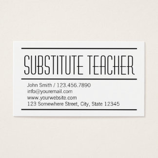 Tarjeta de visita simple moderna del profesor