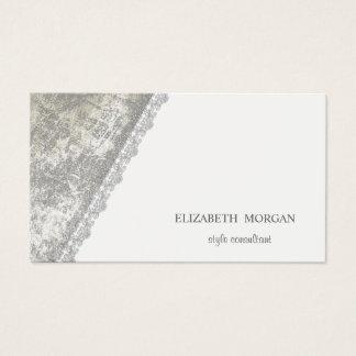 Tarjeta De Visita Simple moderno, minimalista, blanco, cordón