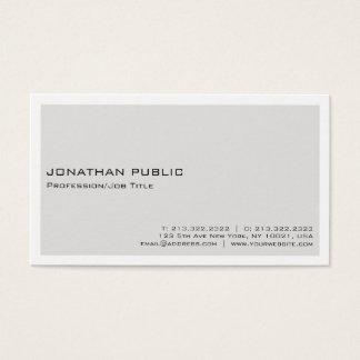 Tarjeta De Visita Simple profesional blanco beige elegante moderno