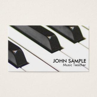 Tarjeta De Visita Simple profesional llano del profesor de música