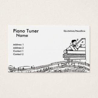 Tarjeta De Visita Sintonizador de piano