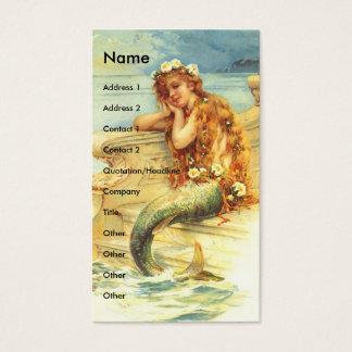 Tarjeta De Visita Sirena del vintage