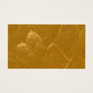 Tarjeta De Visita Sistema en blanco de oro de la hoja de LOTUS de