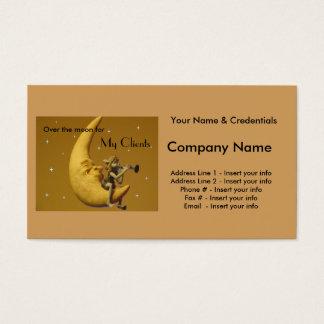 Tarjeta De Visita Sobre la luna para mis clientes - personalizar