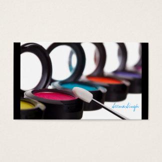 Tarjeta De Visita Sombreadores de ojos cosméticos del artista del