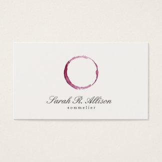Tarjeta De Visita Sommelier elegante de la mancha del vino