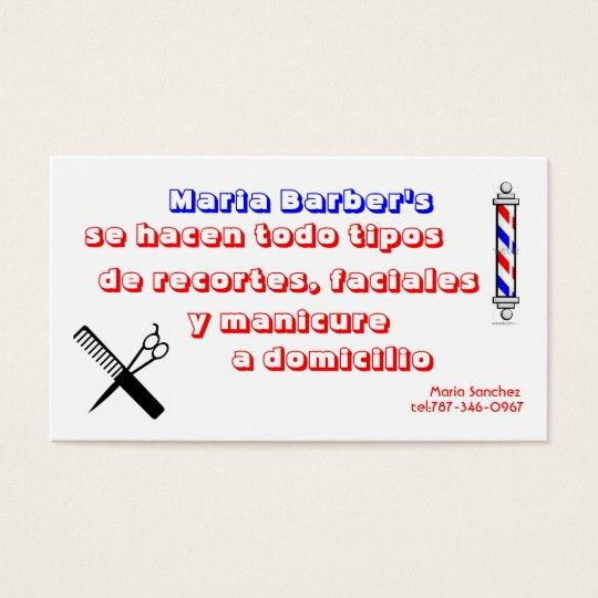 Tarjeta De Visita stock-vector-barber-shop-pole-32983312, barber,...