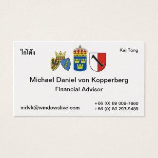 Tarjeta De Visita Suecia, Essen 1, סמלשלאסן X3, תאי, Michael DA…